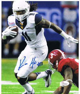 wvu football, kevin white, kevin white autograph