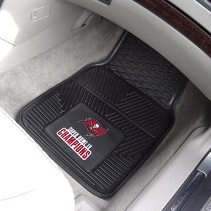 Tampa Bay Buccaneers Super Bowl 55 Champions Vinyl Car Mat Set