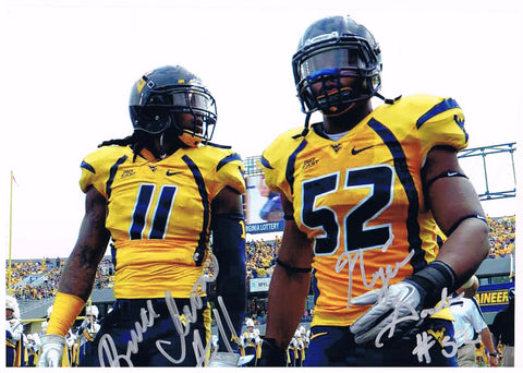 Bruce Irvin & Najee Goode Duel Signed 8x10 WVU Mountaineer Football Stars