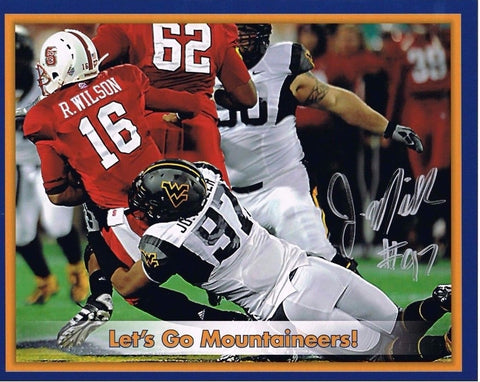 Julian Miller  West Virginia Mountaineers Autographed 8x10