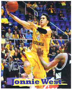 wvu basketball, jonnie west autograph