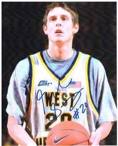 wvu basketball, mike gansey autograph