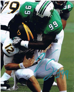 Vinny Curry Marshal Thundering Herd Signed 8x10 Photos