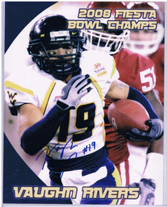 wvu football, vaughn rivers autograph