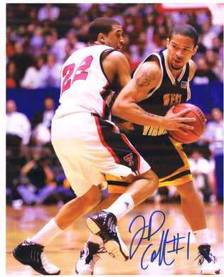wvu basketball, jd collins autograph