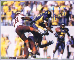 wvu football, brandon myles autograph