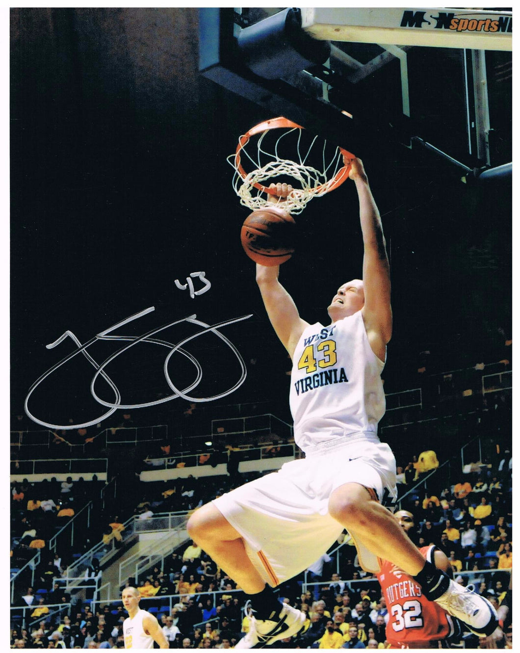 wvu basketball, jamie smalligan autograph
