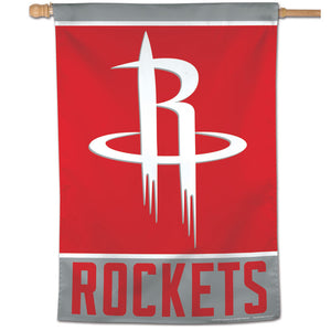 "Houston Rockets Wordmark Vertical Flag 28""x40"""