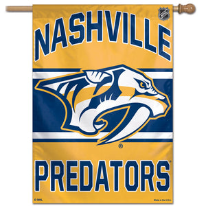 "Nashville Predators Vertical Flag 28""x40"""