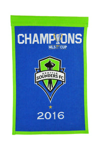 "Seattle Sounders MLS Champions Wool Banners - 14""x22"""