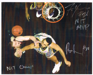 wvu basketball, rob summers autograph, frank young autograph