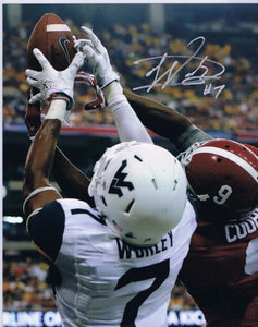 wvu football, daryl worley autograph