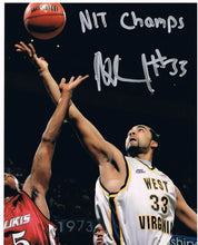 wvu basketball, rob summers autograph