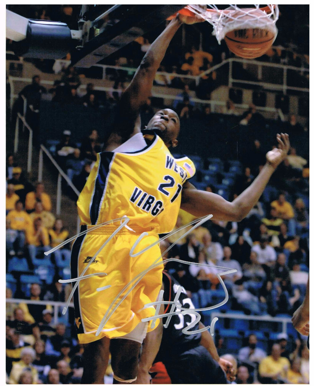 wvu basketball, frank young autograph