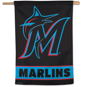 "Miami Marlins Wordmark Vertical Flag - 28""x40"""
