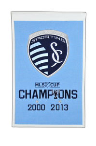 "Sporting Kansas City MLS Champions Wool Banners - 14""x22"""