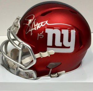 Jeff Hostetler New York Giants Signed Giants Blaze Mini Helmet