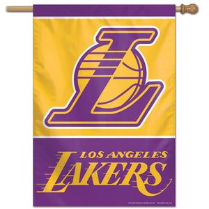 "Los Angeles Lakers Vertical Flag 28""x40""  #1"
