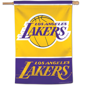 "Los Angeles Lakers Vertical Flag 28""x40""  #2"