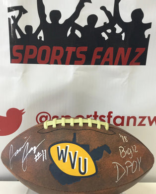 david long jr west virginia mountaineers autographed football, david long signed football