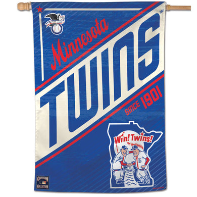 Minnesota Twins Cooperstown Vertical Flag - 28