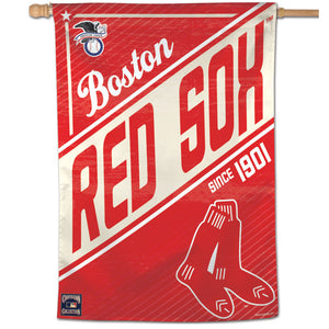 "Boston Red Sox Cooperstown Vertical Flag - 28""x40"""