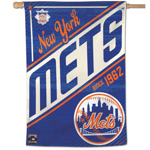 "New York Mets Cooperstown Vertical Flag - 28""x40"""