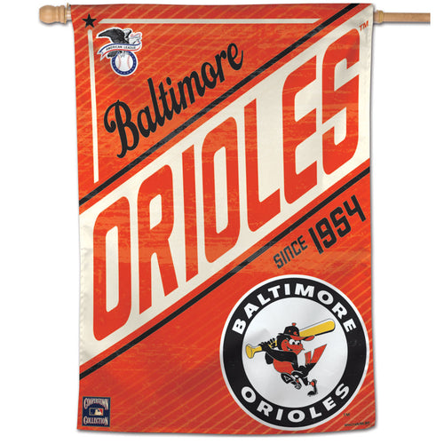 Baltimore Orioles Cooperstown Vertical Flag - 28