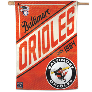 "Baltimore Orioles Cooperstown Vertical Flag - 28""x40"""