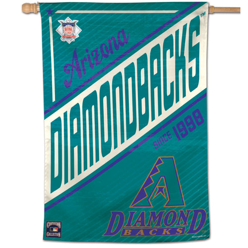 Arizona Diamondbacks Cooperstown Vertical Flag - 28