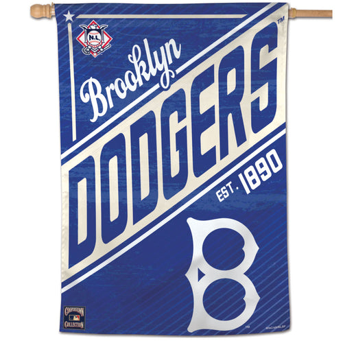 Brooklyn Dodgers Cooperstown Vertical Flag - 28