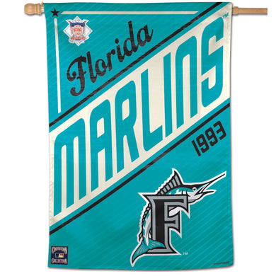 Miami Marlins Cooperstown Vertical Flag - 28