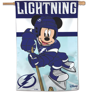 "Tampa Bay Lightning Mickey Mouse Vertical Flag 28""x40"""