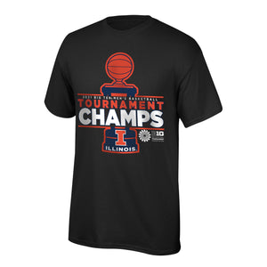Illinois Fighting Illini 2021 BIG10 Basketball Tournament Champions Locker Room Shirt