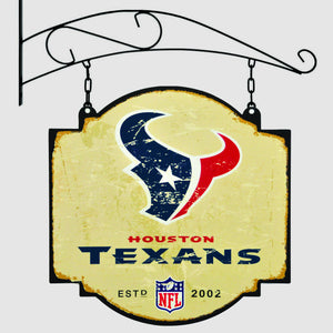 houston texans, texans vintage tavern sign