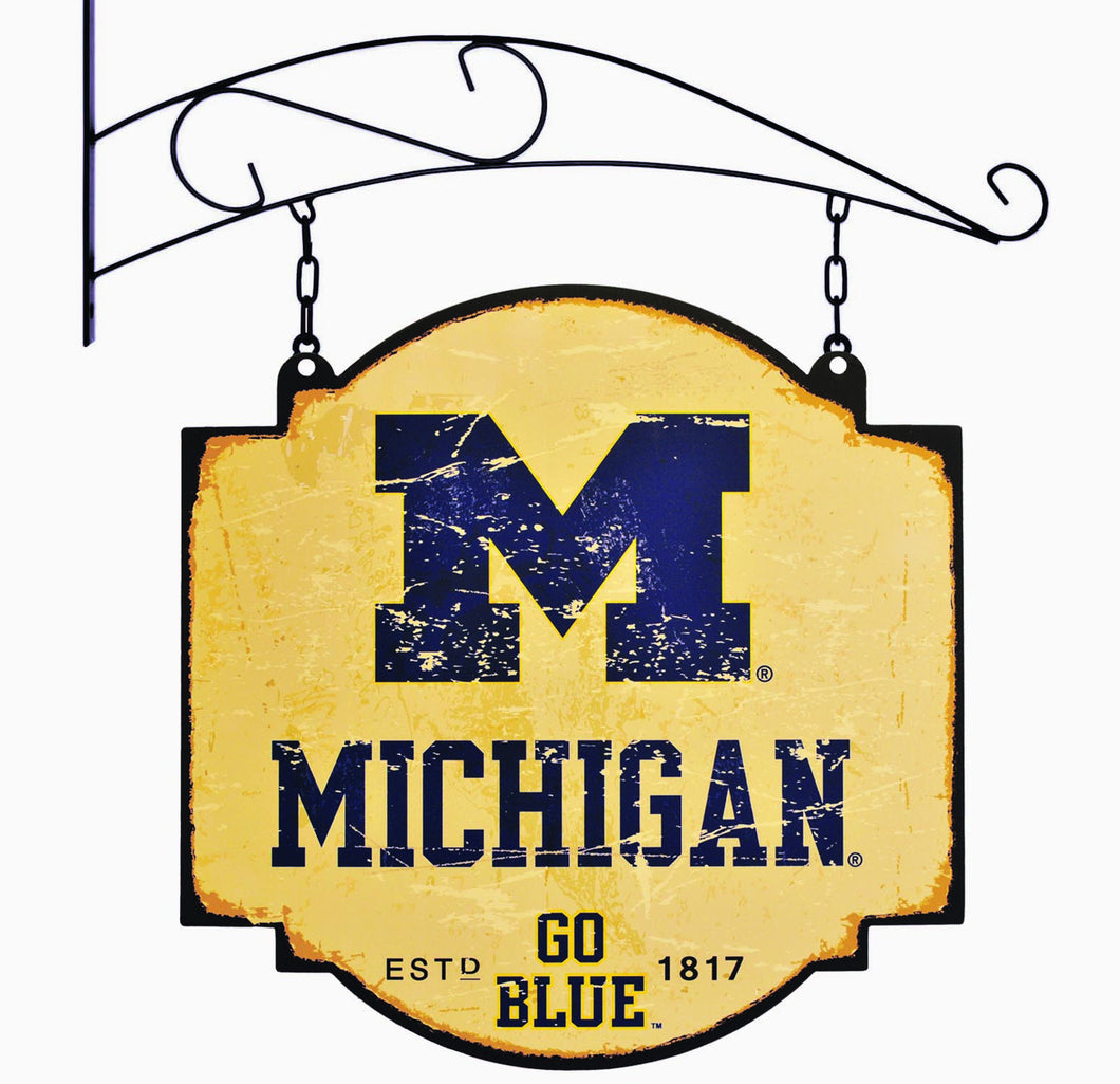 michigan football, michigan basketball, wolverines tavern sign