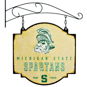 michigan state football, michigan state basketball, spartans tavern sign
