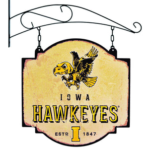 iowa football, iowa basketball, iowa hawkeyes tavern sign