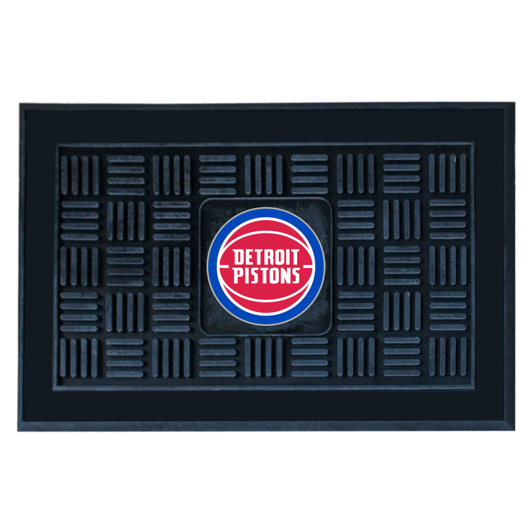 Detroit Pistons Medallion Door Mat 19