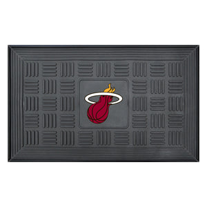 "Miami Heat Medallion Door Mat 19""x31"""