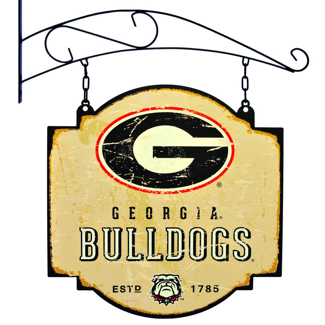 georgia bulldogs football, georgia bulldogs tavern sign
