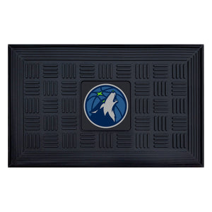 "Minnesota Timberwolves Medallion Door Mat 19""x31"""