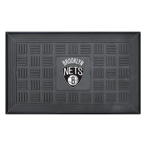 "Brooklyn Nets Medallion Door Mat 19""x31"""