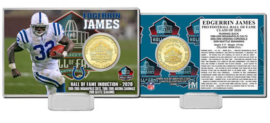 Edgerrin James Indianapolis Colts 2020 HOF Bronze Coin Card