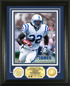 Edgerrin James Indianapolis Colts 2020 Hall of Fame Bronze Coin Photo Mint