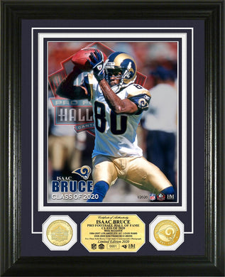 Isaac Bruce Rams 2020 Hall of Fame Bronze Coin Photo Mint