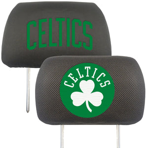 boston celtics head rest covers