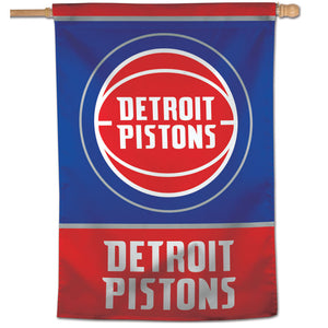 "Detroit Pistons Vertical Flag 28""x40"""