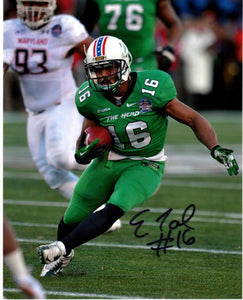 marshall football, essray taliaferro autograph