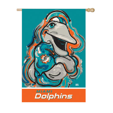 Miami Dolphins Mascot House Flag